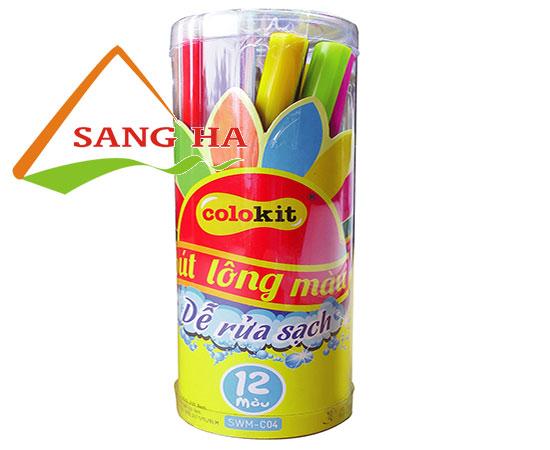 Bút lông màu Thiên Long dễ rửa được SWM-C04 12 màu